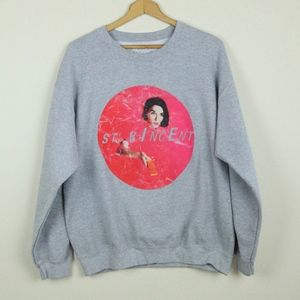 St. Vincent Grey Crewneck Band Sweatshirt L